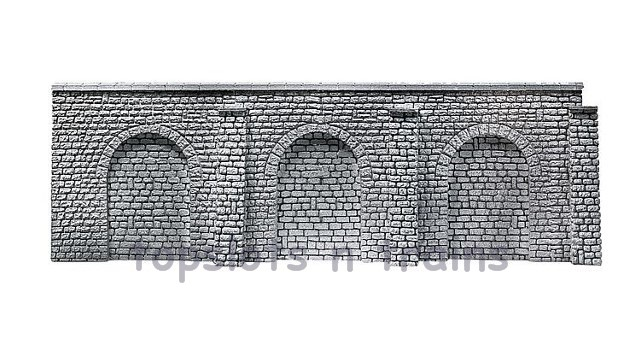 Faller 272644 N Scale Decorative Panel - NATURAL STONE ASHLARS WITH PILLARS - ARCADES SHEET