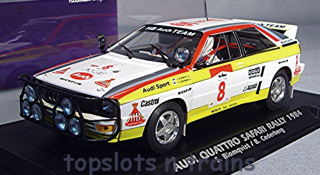 Fly-Car-Model A2005 - AUDI QUATTRO A2 RALLY SAFARI 1984 BLOMQUIST