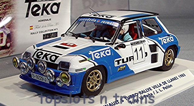 Fly-Car-Model E2003 - RENAULT 5 TURBO RALLY 1983 PENA / PELLON