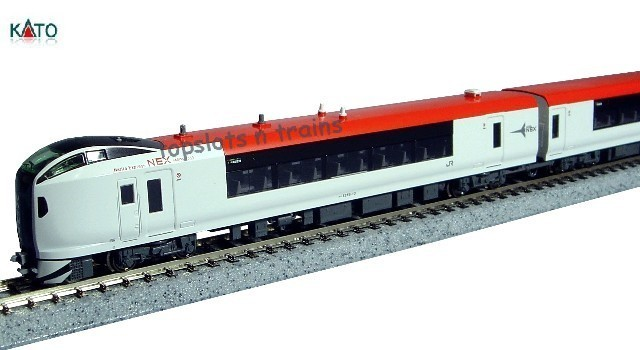 Kato Japan 10-847 N Scale - JR E259 SERIES NARITA EXPRESS 3 CAR POWERED SET