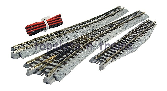 Kato 20-220 N Gauge - UNITRACK LEFT HAND ELECTRICAL TURNOUT - POINT No 4