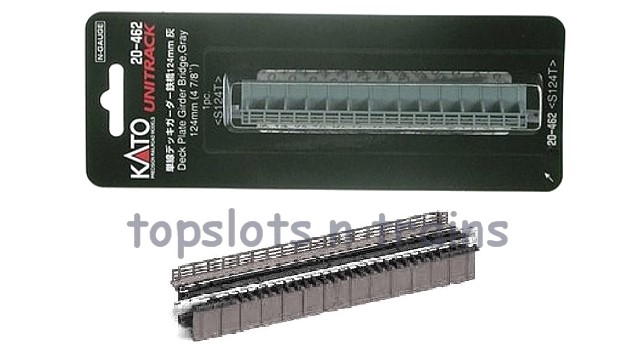 Kato 20-462 N Scale - SINGLE TRACK DECK PLATE GIRDER BRIDGE - 124MM GREY