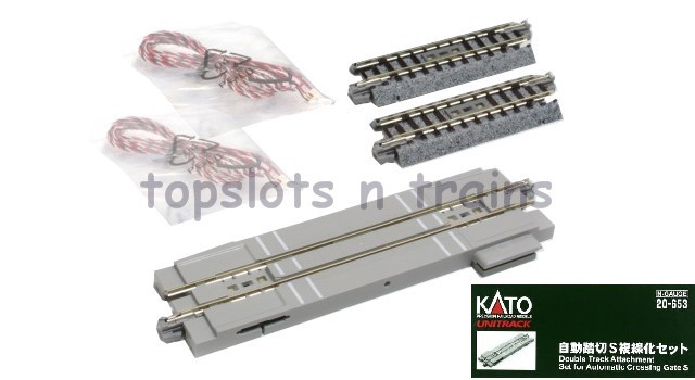 Kato 20-653 N Gauge - DOUBLE TRACK ATTACHMENT 4 AUTOMATIC CROSSING GATE