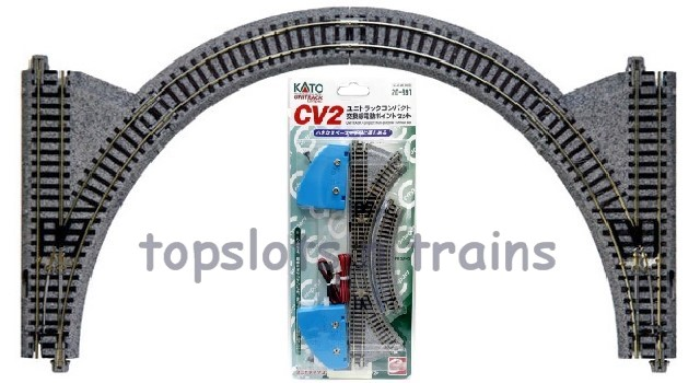 Kato  Compact 20-891 N Gauge - CV2 - UNITRACK COMPACT MULTI-PURPOSE TURNOUT SET