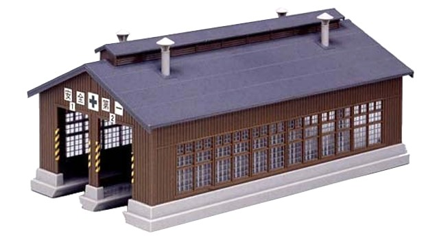 Kato 23-225 N Scale - WOODEN ENGINE SHED KIT - 2 STALL