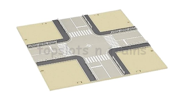 Kato 23-413 N Scale Dio-Town - 4-WAY INTERSECTION ROAD PLATE SECTION