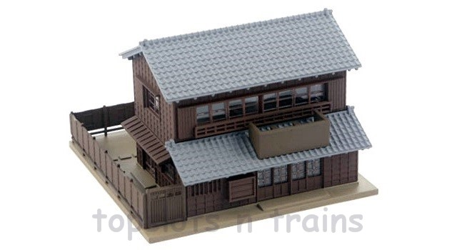 Kato 23-450B N Scale Dio-Town - RESTAURANT WITH TRADITIONAL EAVES 1 - READY BUILT