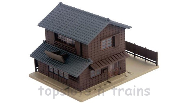 Kato 23-451B N Scale Dio-Town - RESTAURANT WITH TRADITIONAL EAVES 2 - READY BUILT