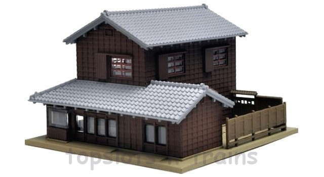 Kato 23-453 N Scale Dio-Town - CORNER SHOP WITH TRADITIONAL EAVES 2 - RIGHT