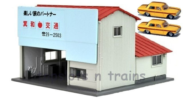 Kato 23-456B N Scale - TAXI STATION READY BUILT WITH 2 TAXIS