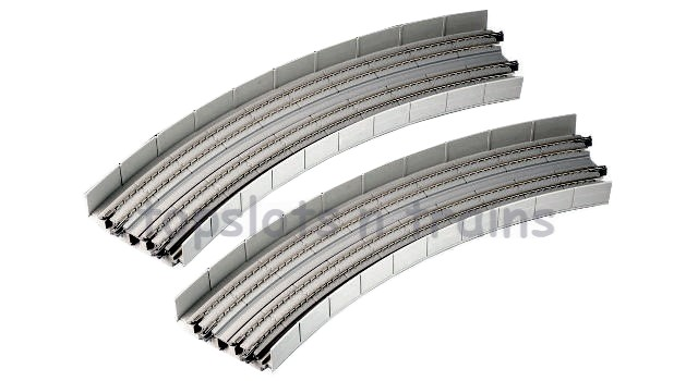Kato  20-544 N Gauge - DOUBLE TRACK BANKED VIADUCT CURVES R-381/R-414MM 4