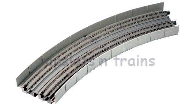 Kato  20-545 N Gauge - DOUBLE TRACK EASEMENT VIADUCT CURVES R-381/R-414MM