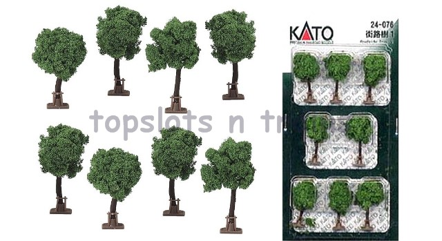 Kato 24-076 N Scale Dio-Town - STREET TREE SET 1 - PACK OF 8 X TREES