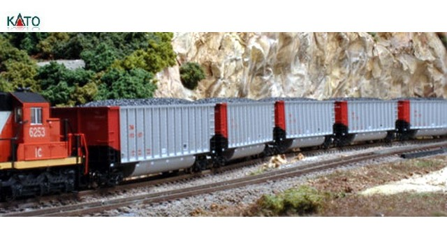 Kato Usa 106-4615 N Scale - BETHGON COALPORTER CANADIAN NATIONAL - 8 CAR SET