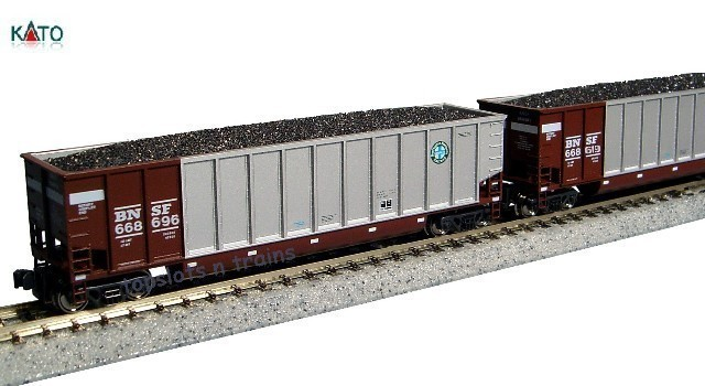 Kato Usa 106-4622 N Scale - BETHGON COAL-PORTER BNSF MINERAL RED 8 CAR SET