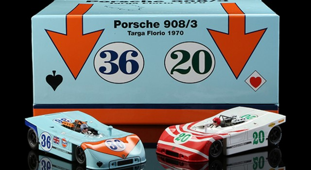Nsr-SET09-2.2 Limited Edition - PORSCHE 908/3 TARGA FLORIO 1970 TWIN SET ELFORD AT
