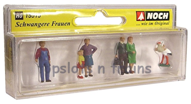 Noch 15515 Pregnant Women HO Gauge Figures Set