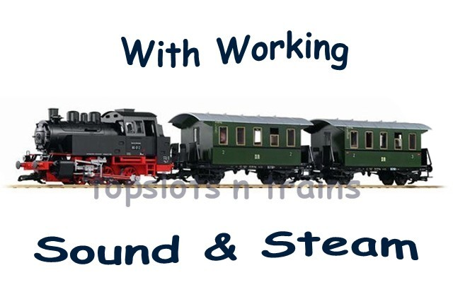 Piko 37125 G Scale - DB BR-80 PASSENGER STARTER SET - SOUND AND STEAM