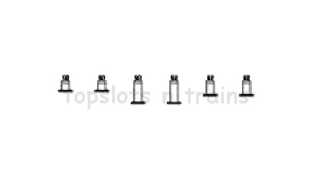 Piko 38100A-56 G Scale - CRANK PINS FOR CAMELBACK LOCO (6 PCS) SILVER