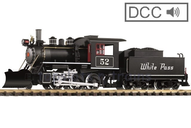 Piko 38219 G Scale DCC / Digital Sound - WHITE PASS - YUKON ROUTE MOGUL STEAM LOCO 52
