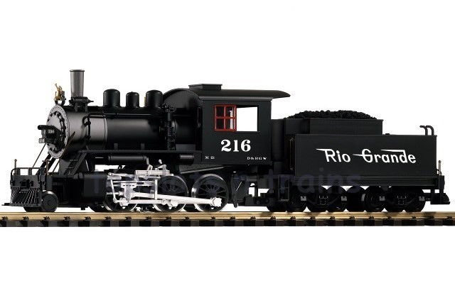 Piko 38220 G Scale - D-RGW MOGUL STEAM LOCOMOTIVE 216 WITH SMOKE