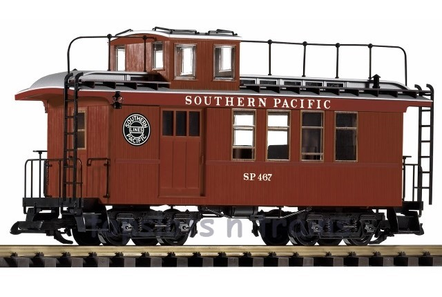 Piko 38625 G Scale - SOUTHERN PACIFIC WOOD DROVERS CABOOSE - SP 467