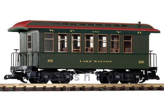 Piko 38632 G Scale - WP-YR WOOD PASSENGER COACH - CAR 238 LAKE WATSON