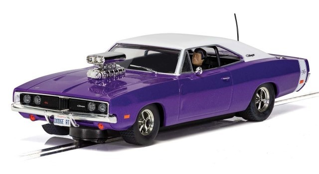 Scalextric C4148 - DODGE CHARGER PURPLE ROAD RACING CAR