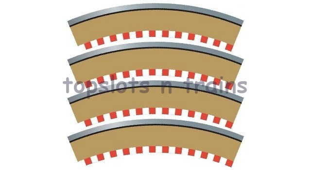 Scalextric C8228 - RADIUS 2 CURVE OUTER TRACK BORDERS 45 DEGREE X 4