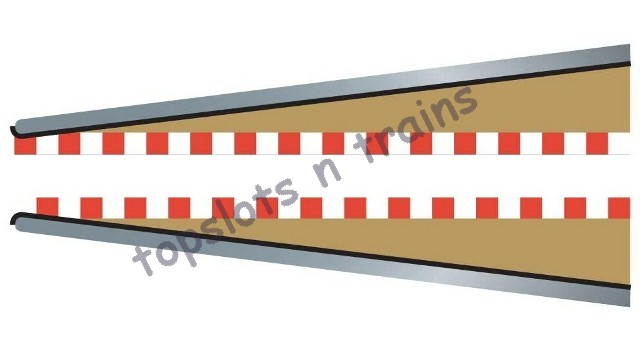 Scalextric C8233 - LEAD IN LEAD OUT TRACK BORDER-BARRIER X 2