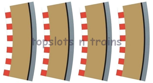 Scalextric C8239 - RADIUS 2 CURVE TRACK OUTER BORDERS 22.5 DEGREE X 4
