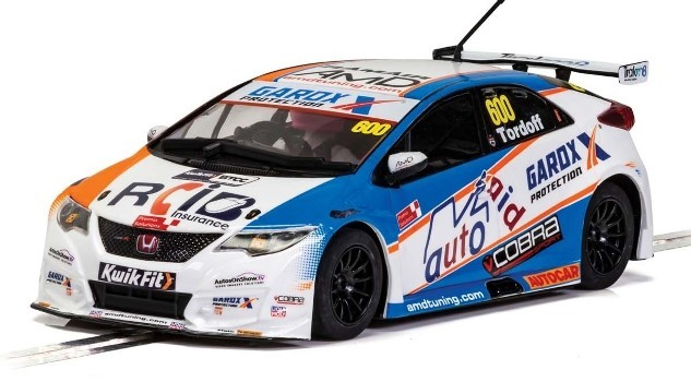 Scalextric C4144 - HONDA CIVIC TYPE R SAM TORDOFF BTCC 2019