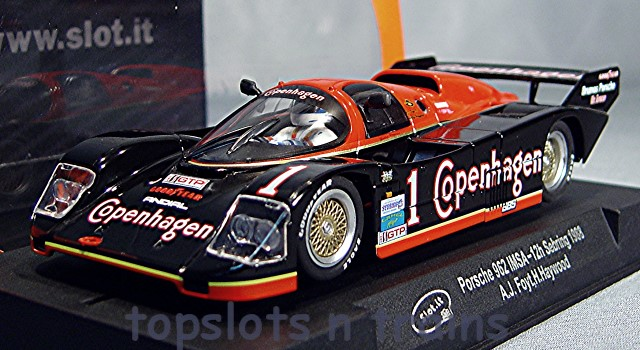 "Slot It /""Copenhagen/"" Porsche 962 IMSA 1988 12h Sebring 1//32 Scale Slot Car CA25F"