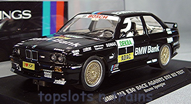 Slotwings W038-02 - BMW M3 E30 RACE AGENTS E92 M3 TEST BRUNO SPENGLER