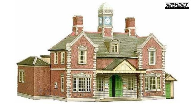 Superquick SQ-A10 OO/HO Gauge Model - RAILWAY TERMINUS STATION BUILDING CARD KIT
