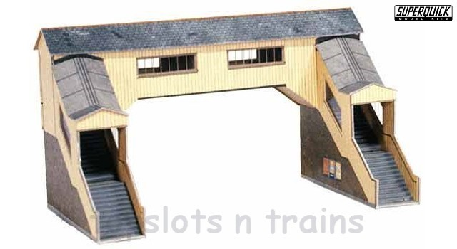 Superquick SQ-A 9 OO/HO Gauge Model - COVERED FOOTBRIDGE BUILDING CARD KIT