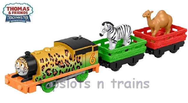 Fisher-Price TrackMaster Revolution FXX56 - ANIMAL PARTY PERCY ENGINE - 2 X ANIMALS / WAGONS