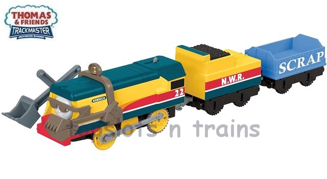Fisher-Price TrackMaster Revolution FXX57 - REBECCA ENGINE WITH TENDER-CARGO CAR-DIGGING GEAR
