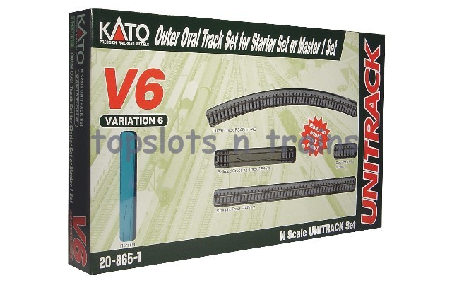 Kato 20-865 N Gauge - V6 UNITRACK - OUTER OVAL TRACK EXPANSION SET