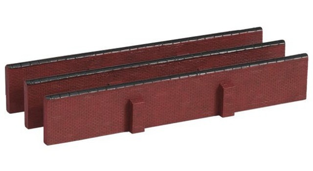 Hornby R8744 - STRAIGHT WALLS X 3 PACK